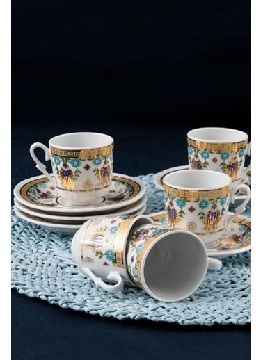 Güral Porselen Güral Porselen Sedef Kahve Fincan Takımı 6 Kişilik SF12CKT084554 Renkli